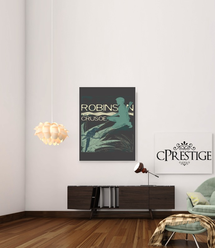 Book Collection: Robinson Crusoe for Art Print Adhesive 30*40 cm