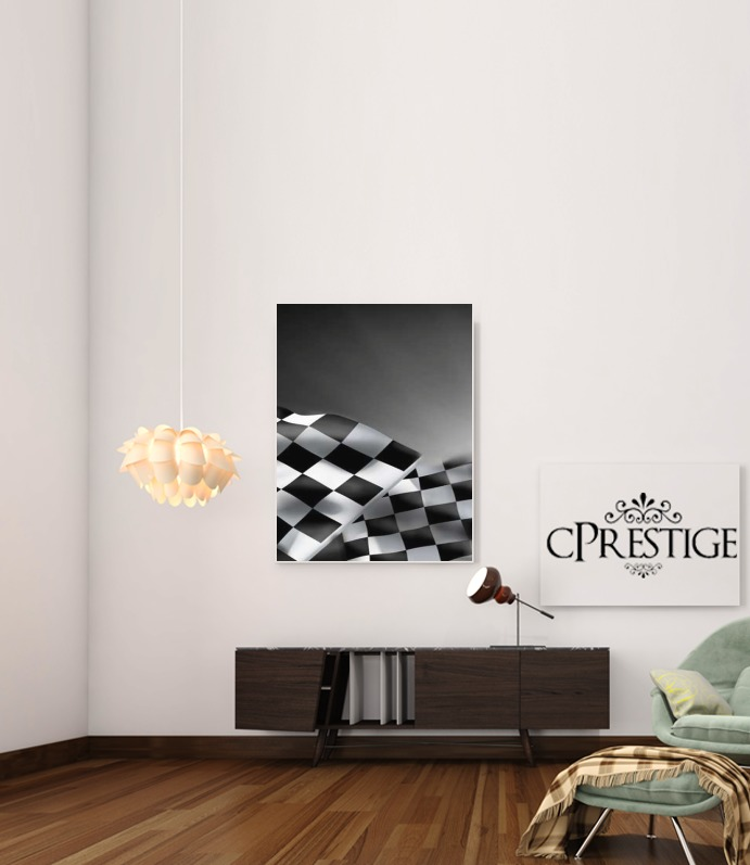 Checkered Flags for Art Print Adhesive 30*40 cm