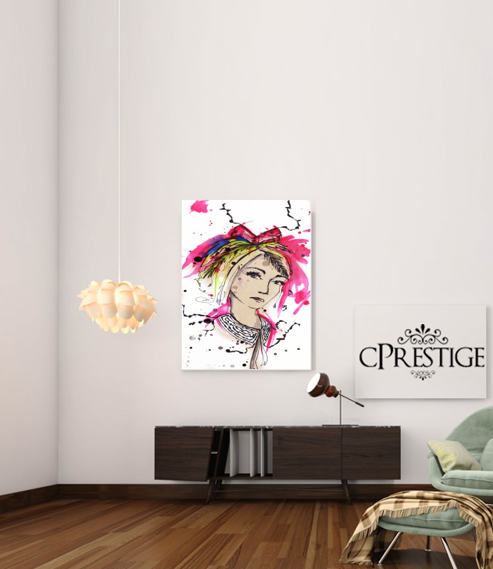 Cinderella painting for Art Print Adhesive 30*40 cm