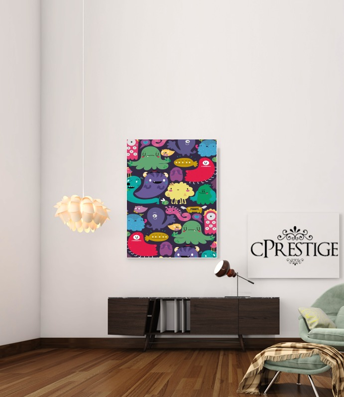Colorful Creatures for Art Print Adhesive 30*40 cm