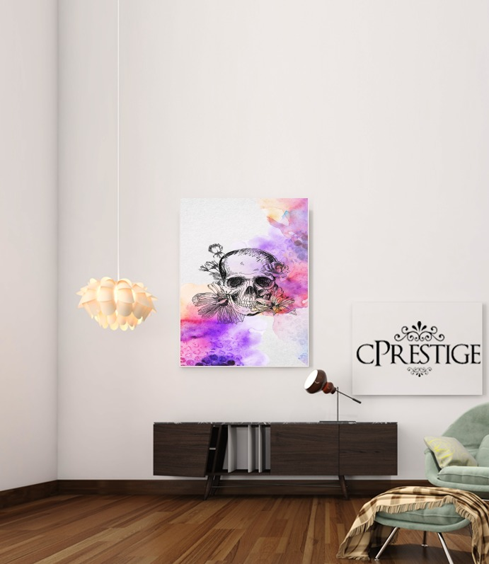 Color skull for Art Print Adhesive 30*40 cm