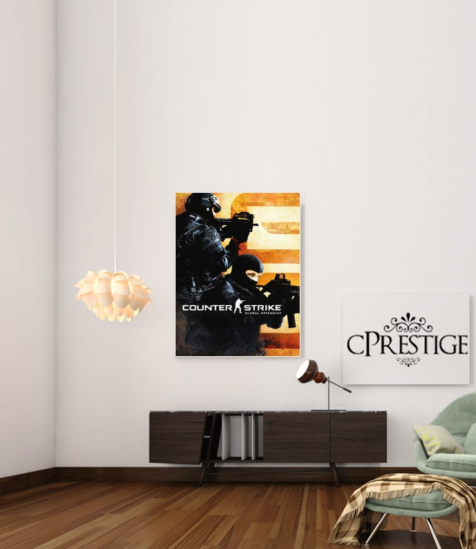 Counter Strike CS GO for Art Print Adhesive 30*40 cm