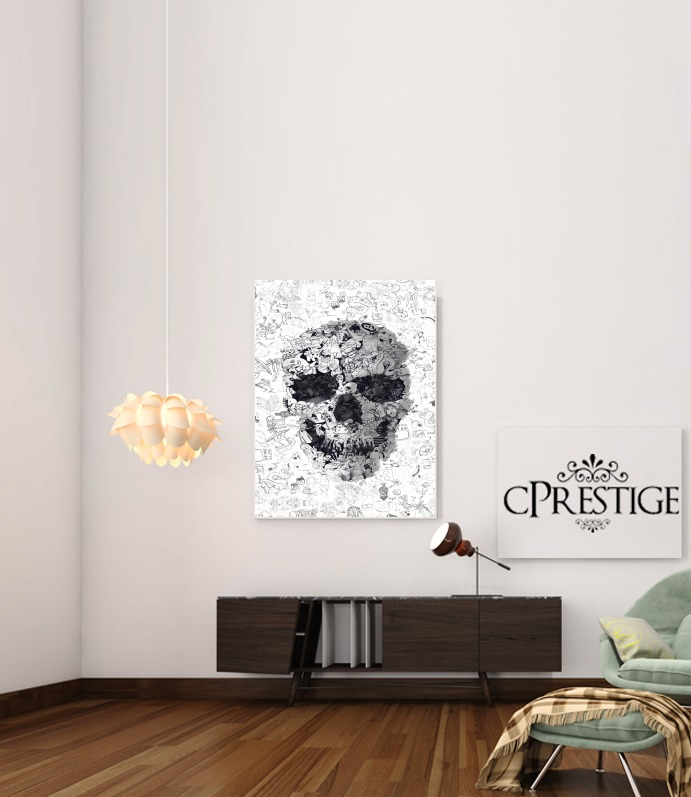 Doodle Skull for Art Print Adhesive 30*40 cm