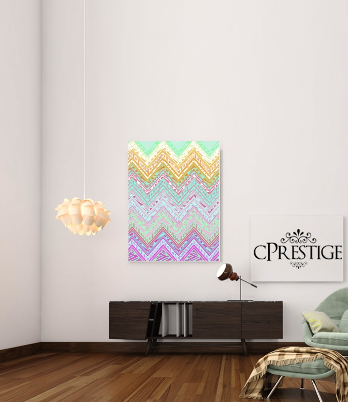 ETHNIC CHEVRON for Art Print Adhesive 30*40 cm