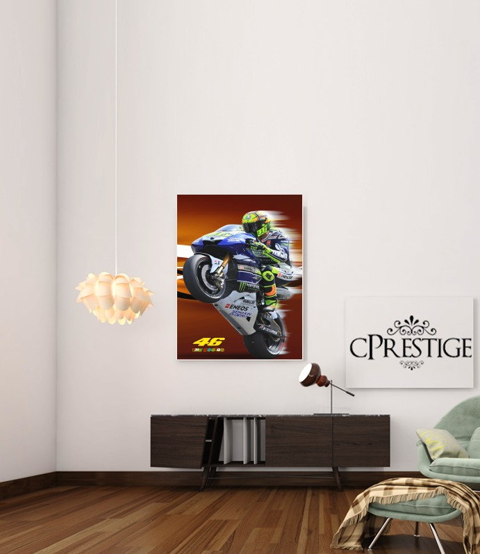 Fan de Yamaha En Feu VR46 Doctors for Art Print Adhesive 30*40 cm