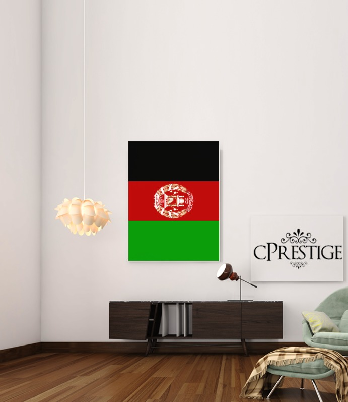 Flag Afghanistan for Art Print Adhesive 30*40 cm