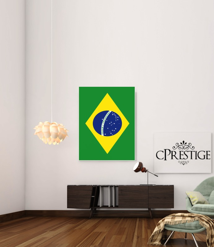 Flag Brasil for Art Print Adhesive 30*40 cm
