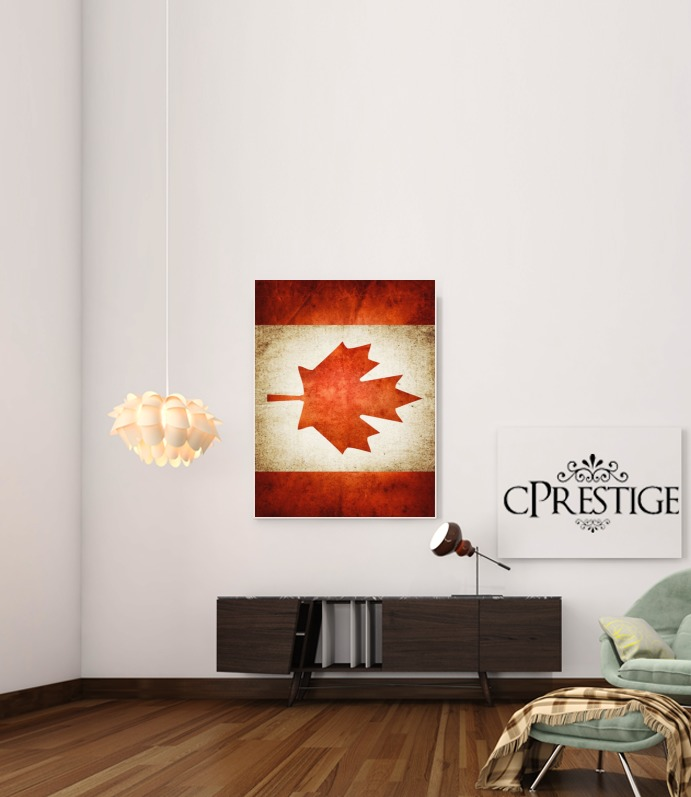 Canadian Flag Vintage for Art Print Adhesive 30*40 cm