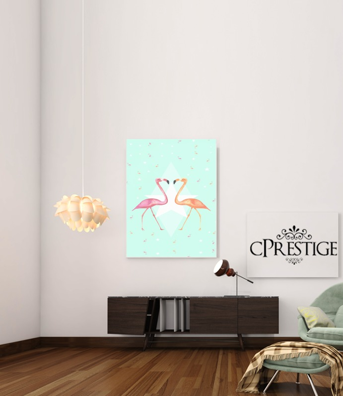 FLAMINGO PARTY for Art Print Adhesive 30*40 cm