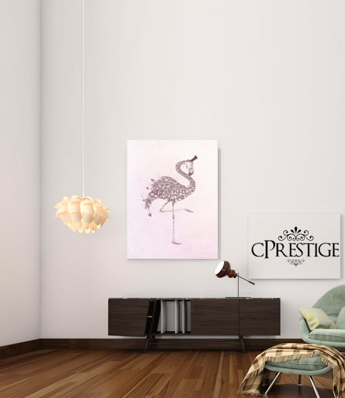 Flamingo for Art Print Adhesive 30*40 cm