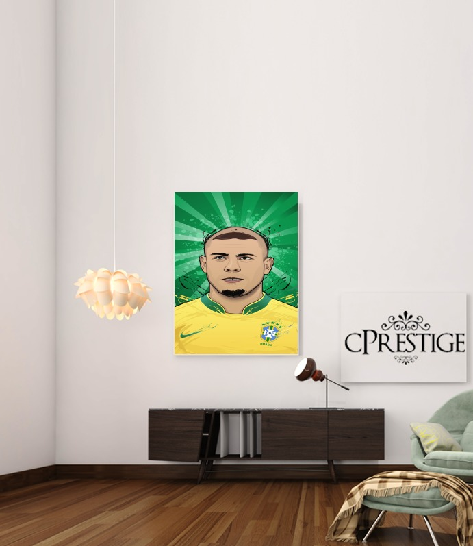 Football Legends: Ronaldo R9 Brasil  for Art Print Adhesive 30*40 cm