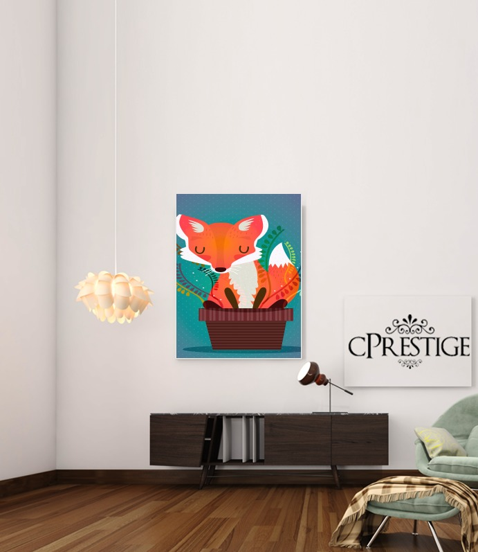 Fox in the pot for Art Print Adhesive 30*40 cm