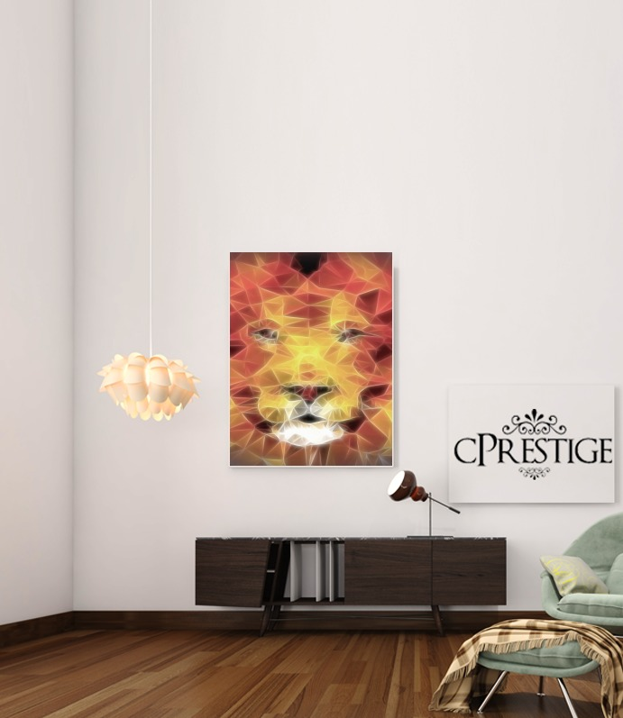 fractal lion for Art Print Adhesive 30*40 cm