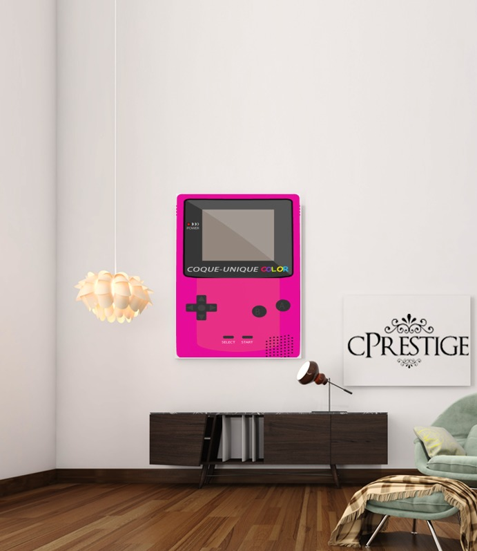 Gameboy Color Pink for Art Print Adhesive 30*40 cm