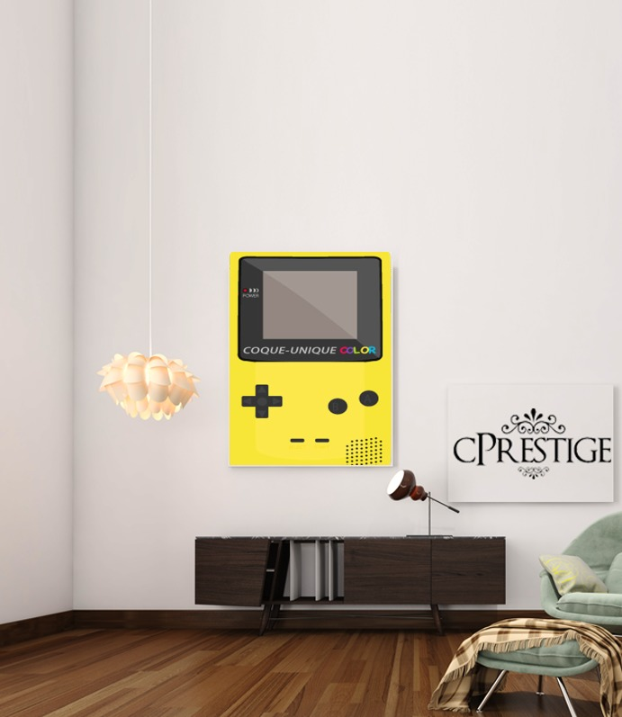 Gameboy Color Yellow for Art Print Adhesive 30*40 cm
