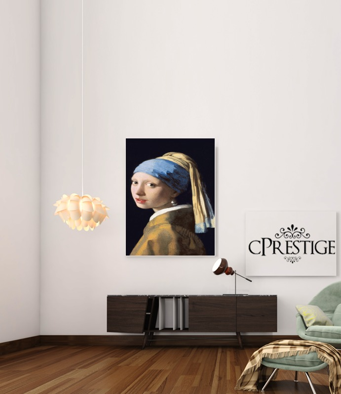 Girl with a Pearl Earring for Art Print Adhesive 30*40 cm