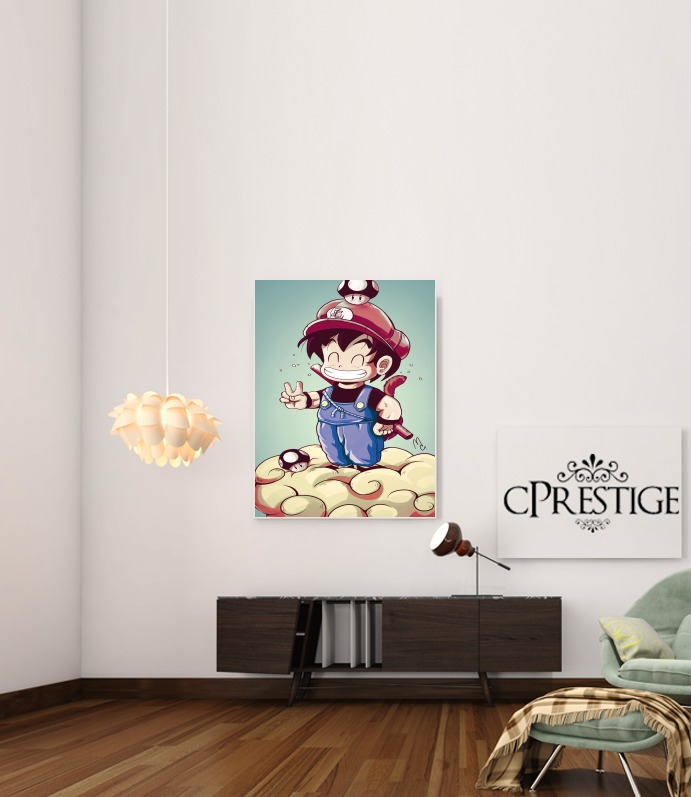 Goku-mario for Art Print Adhesive 30*40 cm