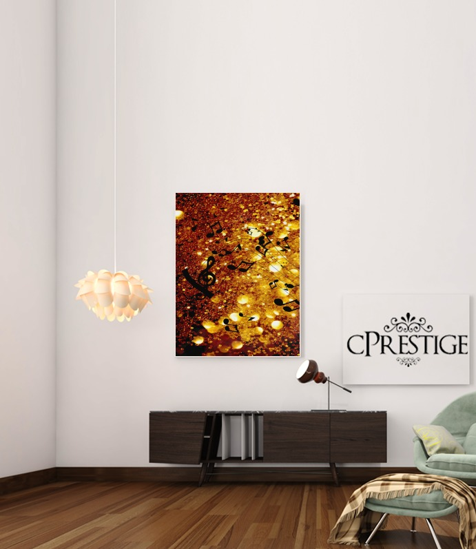 Golden Music for Art Print Adhesive 30*40 cm