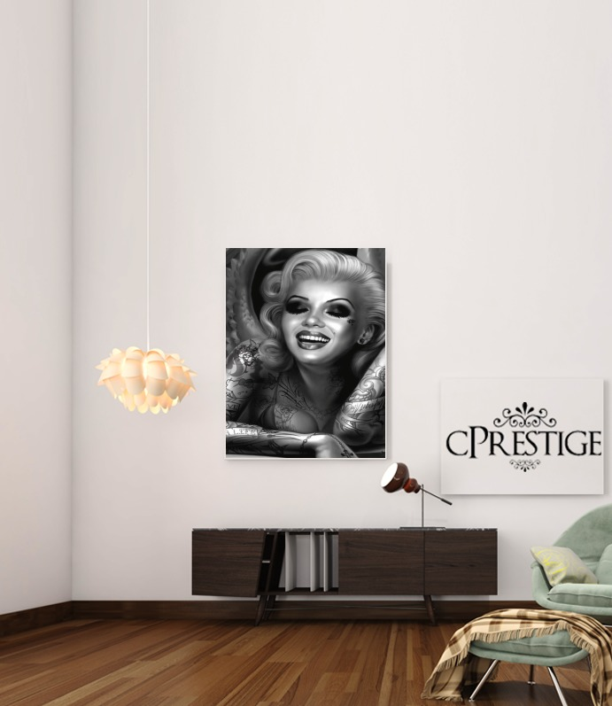 Goth Marilyn for Art Print Adhesive 30*40 cm
