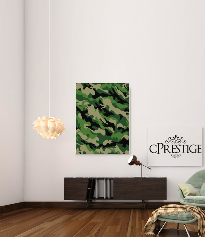 Green Military camouflage for Art Print Adhesive 30*40 cm
