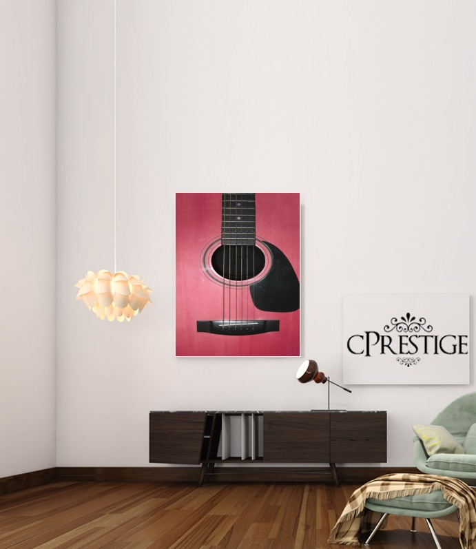 Pink Guitar for Art Print Adhesive 30*40 cm