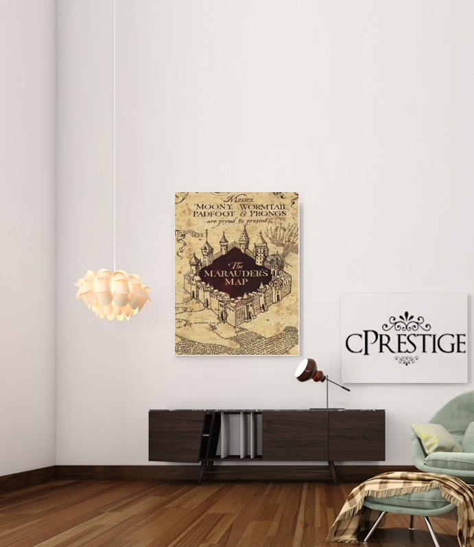 Harry Potter Marauder Map for Art Print Adhesive 30*40 cm