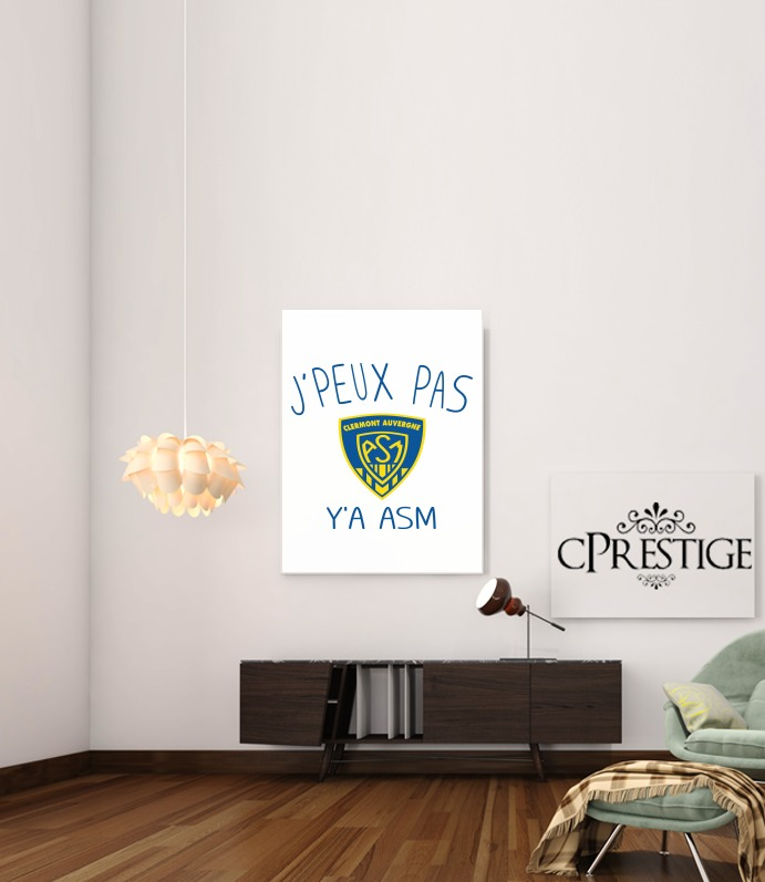 Je peux pas ya ASM - Rugby Clermont Auvergne for Art Print Adhesive 30*40 cm
