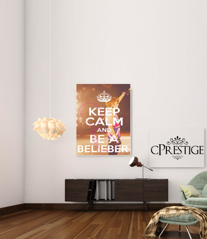 Keep Calm And Be a Belieber for Art Print Adhesive 30*40 cm