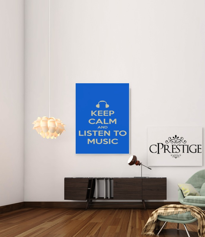 Keep Calm And Listen to Music for Art Print Adhesive 30*40 cm