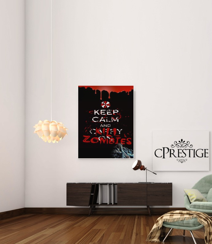 Keep Calm And Kill Zombies for Art Print Adhesive 30*40 cm
