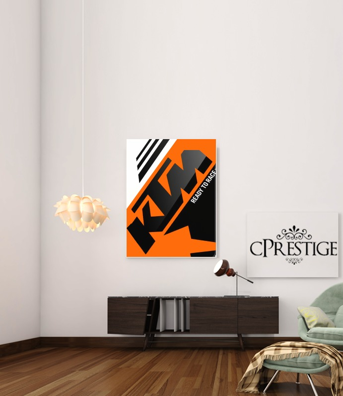 KTM Racing Orange And Black for Art Print Adhesive 30*40 cm