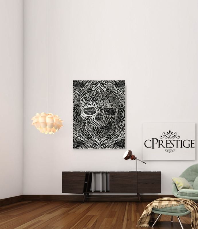 Lace Skull for Art Print Adhesive 30*40 cm