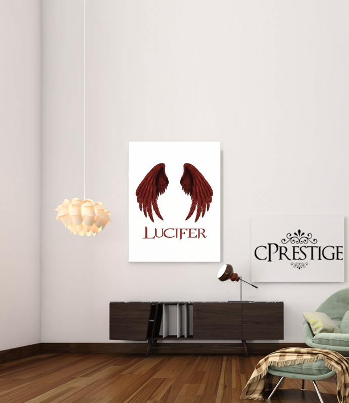 Lucifer The Demon for Art Print Adhesive 30*40 cm