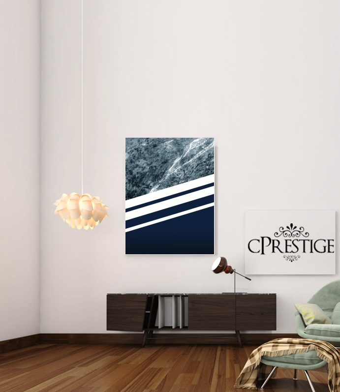 Marble Navy for Art Print Adhesive 30*40 cm
