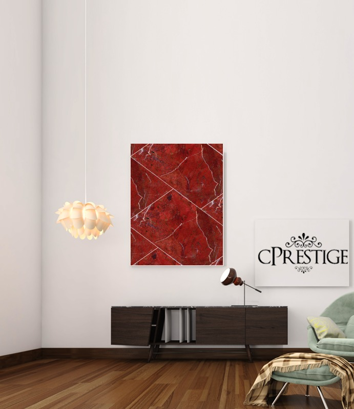 Minimal Marble Red for Art Print Adhesive 30*40 cm