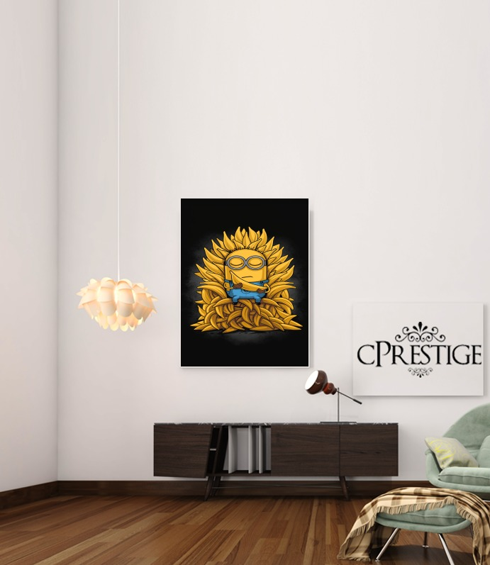 Minion Throne for Art Print Adhesive 30*40 cm