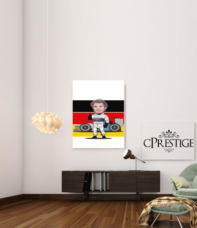 MiniRacers: Nico Rosberg - Mercedes Formula One Team for Art Print Adhesive 30*40 cm