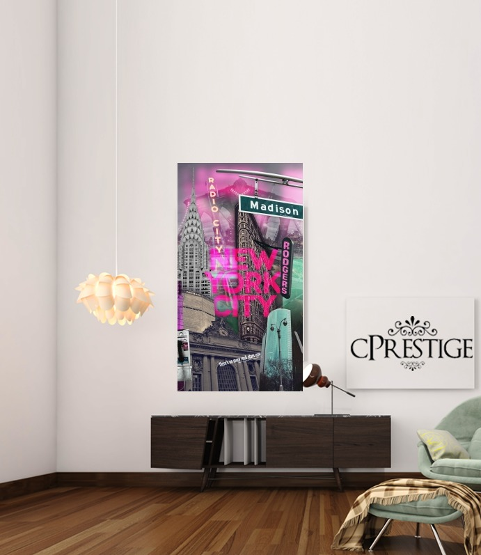 New York City II [pink] for Art Print Adhesive 30*40 cm