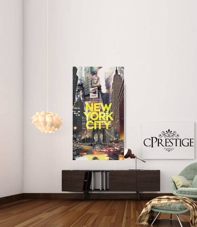 New York City II [yellow] for Art Print Adhesive 30*40 cm