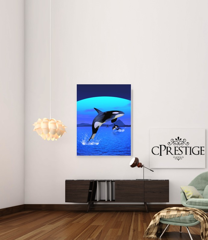 Orca Whale for Art Print Adhesive 30*40 cm