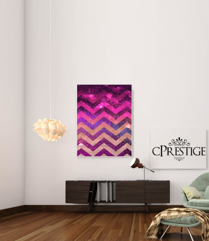 PARTY CHEVRON GALAXY  for Art Print Adhesive 30*40 cm