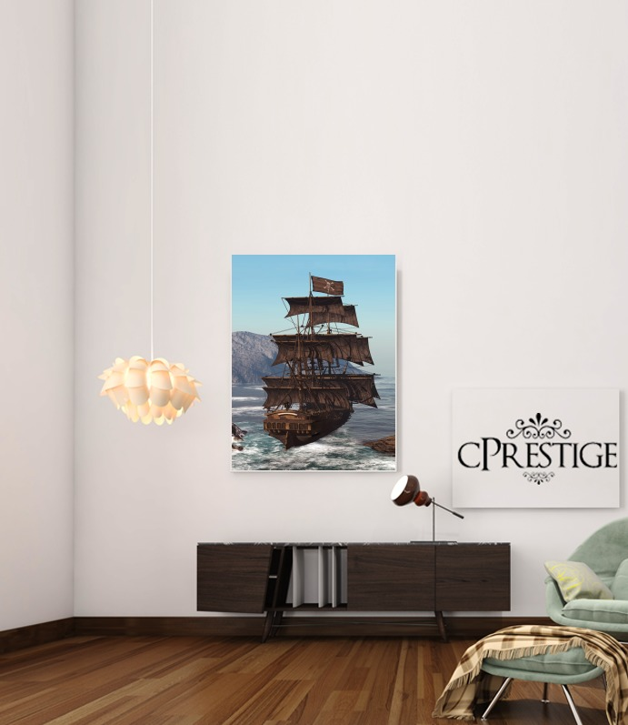 Pirate Ship 1 for Art Print Adhesive 30*40 cm