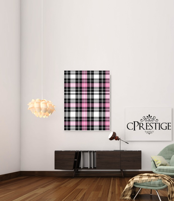 Pink Plaid for Art Print Adhesive 30*40 cm