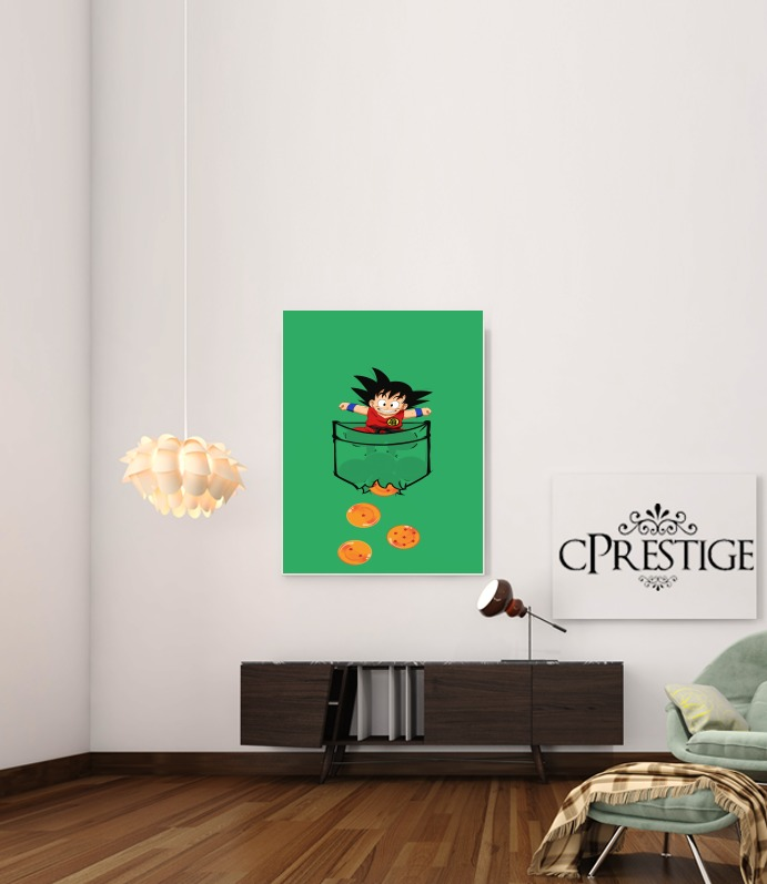 Pocket Collection: Goku Dragon Balls for Art Print Adhesive 30*40 cm