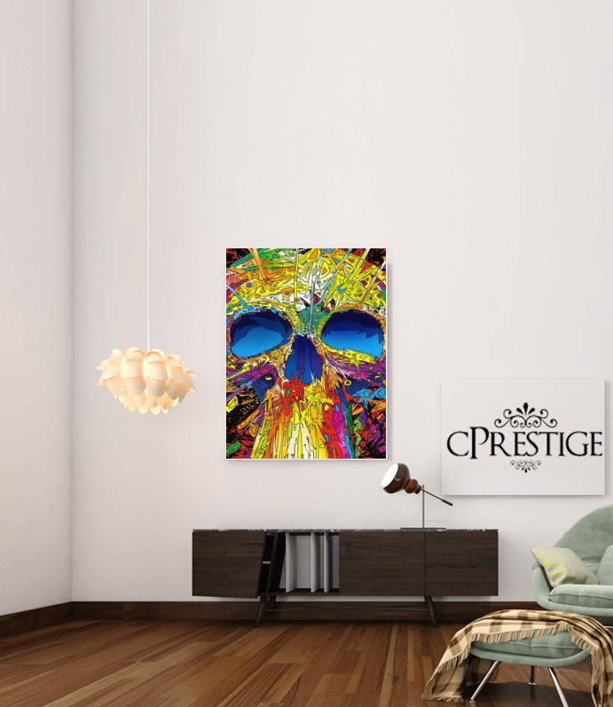 Color Skull Flashy for Art Print Adhesive 30*40 cm