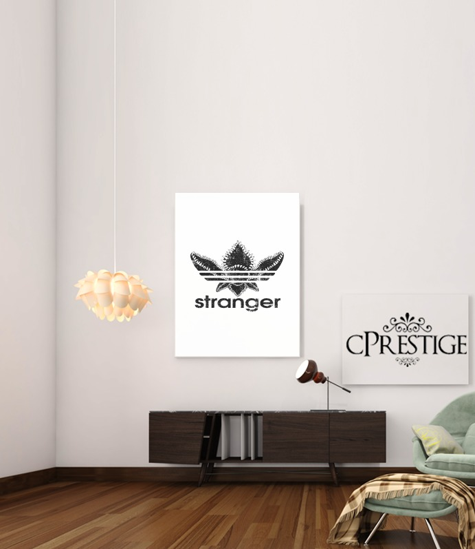 Stranger Things Demogorgon Monster JOKE Adidas Parodie Logo Serie TV for Art Print Adhesive 30*40 cm