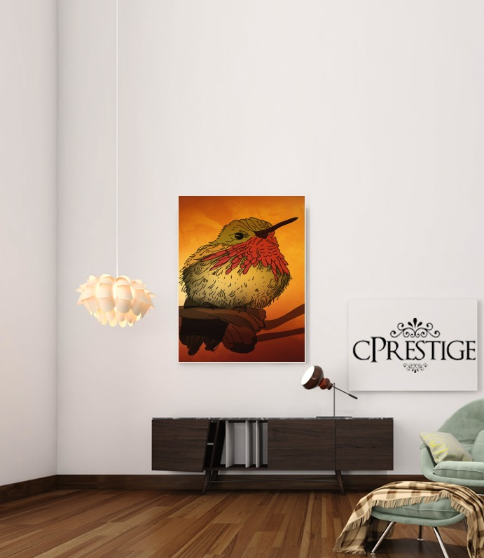 Sunset Bird for Art Print Adhesive 30*40 cm