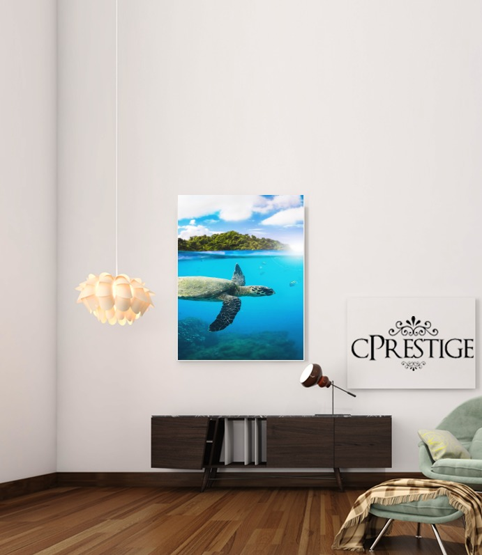 Tropical Paradise for Art Print Adhesive 30*40 cm