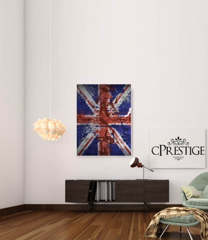 Union Jack Painting for Art Print Adhesive 30*40 cm