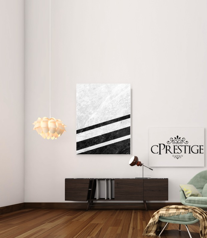 White Striped Marble for Art Print Adhesive 30*40 cm